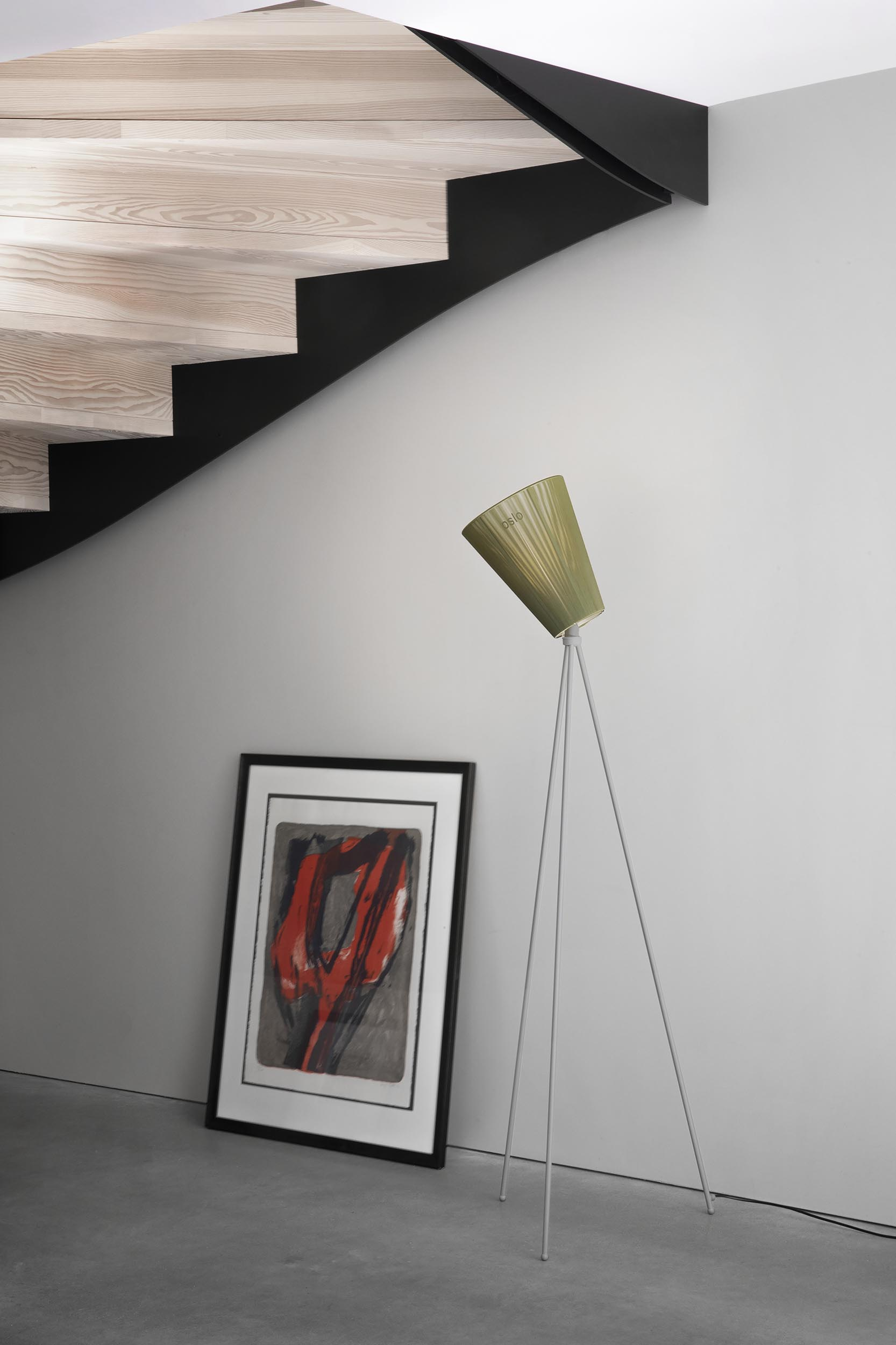 Oslo_Wood_lamp_light-grey_olive-green_hallway_Northern
