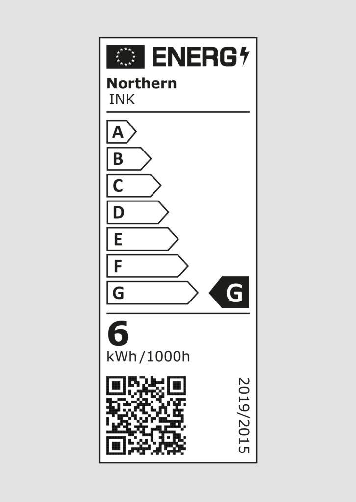 EU energy label - Ink wall lamp