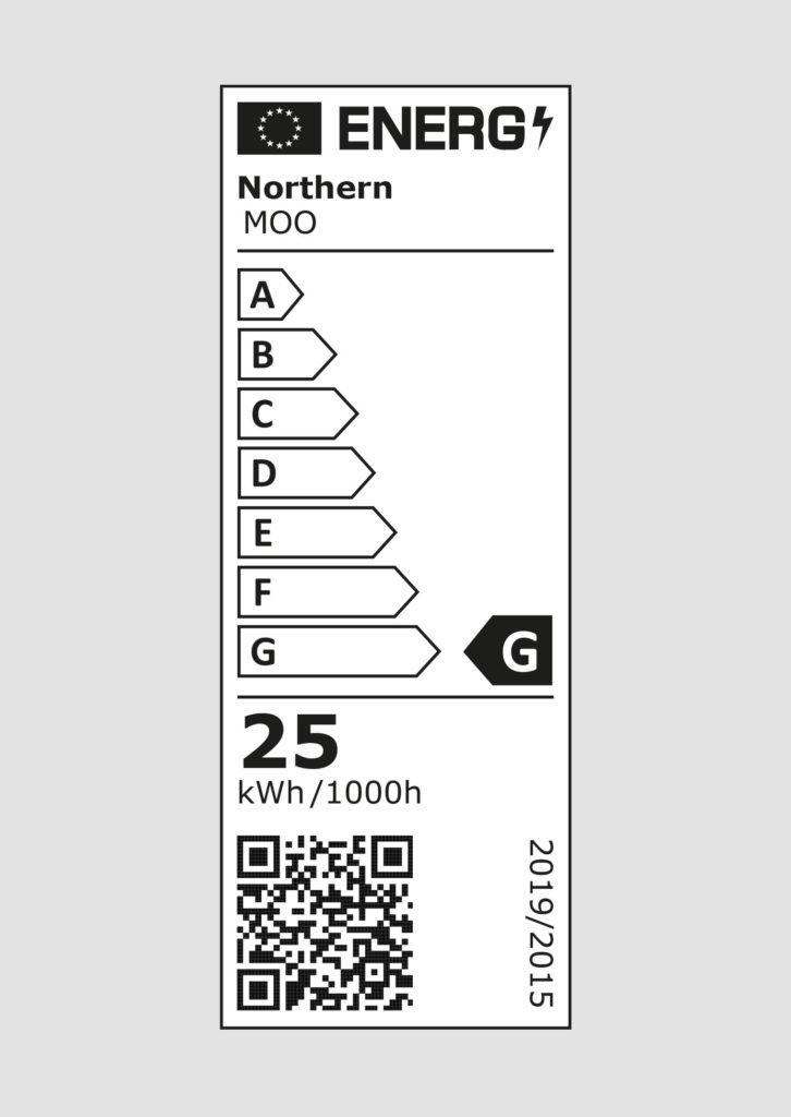 EU energy label - Moo wall lamp