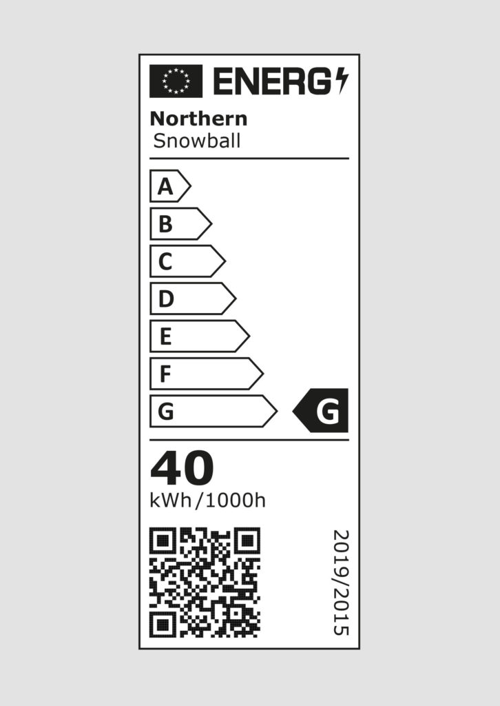 EU energy label - Snowball lamps